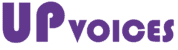 Logo up-voices violet